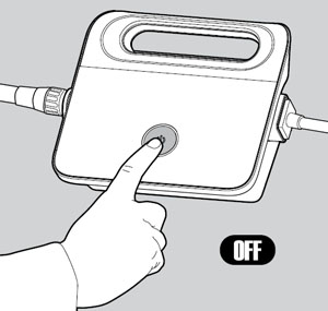 Turn off and unplug the power supply